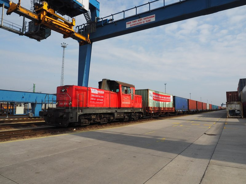 Chinese cargo arrives in Hungary by train